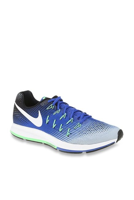 a735a3800 Buy Nike Air Zoom Pegasus 33 Wolf Grey & Blue Running Shoes for Men at Best  Price @ Tata CLiQ