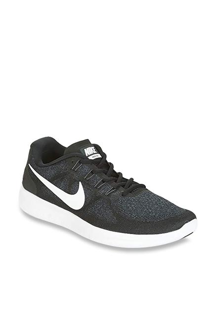 8cd92aa8f23e Buy Nike Free RN 2017 Black Running Shoes for Men at Best Price   Tata CLiQ