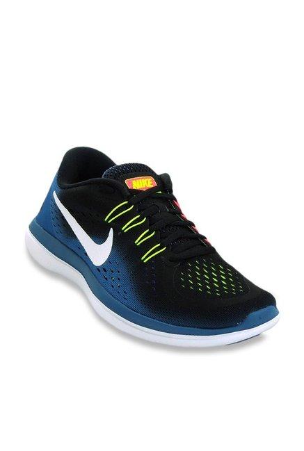 Buy Nike Flex 2017 Rn Black Industrial Blue Running Shoes For Men