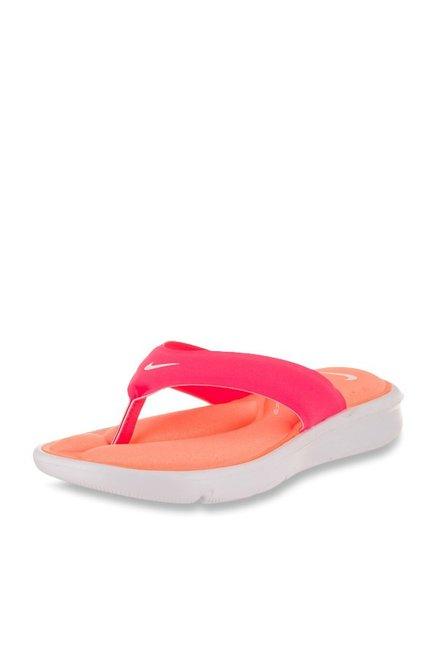 fd9e45878214 online exclusive. New. COD. Nike Ultra Comfort Pink   Orange Flip Flops