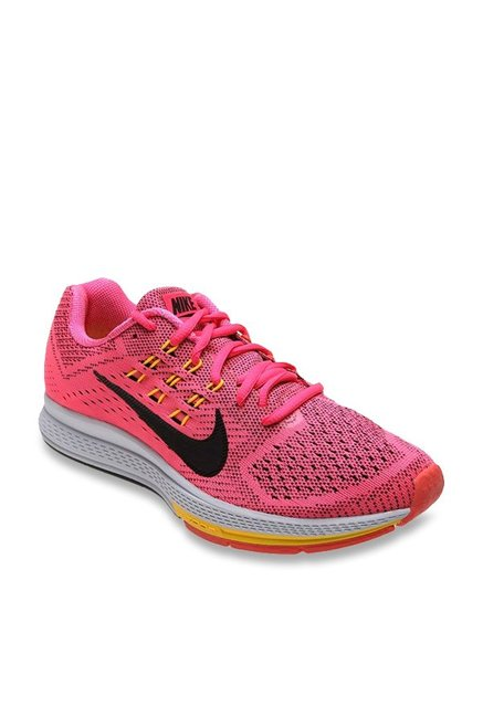 8370b2c49b9 Buy Nike Air Zoom Structure 18 Pink   Black Running Shoes for ...