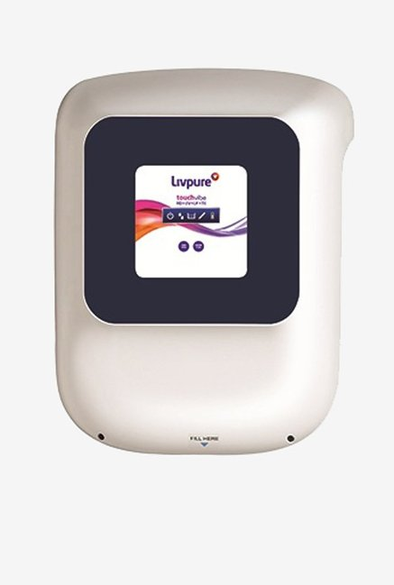 Livpure Touch Vibe RO + UV + UF + Taste Enhancer 8.5 L Water Purifier (White/Blue)