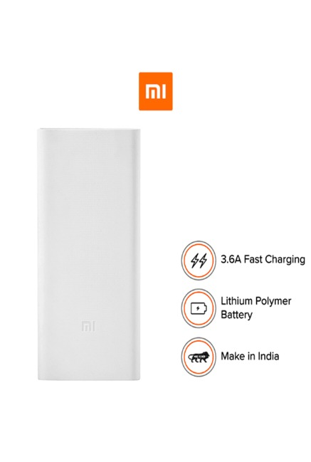 Xiaomi Mi 2i PLM06ZM 20000 mAh Power Bank (White)