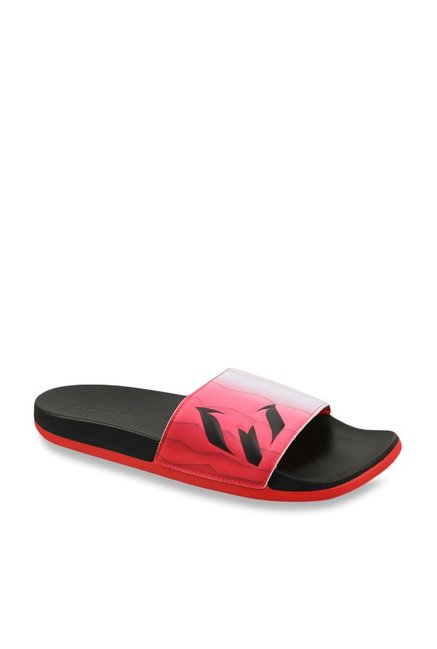 5524443067bb Buy Adidas Adilette White   Red Casual Sandals for Men at Best Price   Tata  CLiQ
