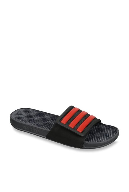 0d74eeddf5e6 Buy Adidas Adissage 2.0 Black   Red Casual Sandals for Men at Best Price    Tata CLiQ