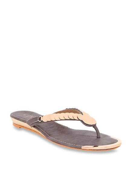 98949a262236 Buy CERIZ Pictoria Grey   Rose Gold Thong Sandals for Women at Best Price    Tata CLiQ