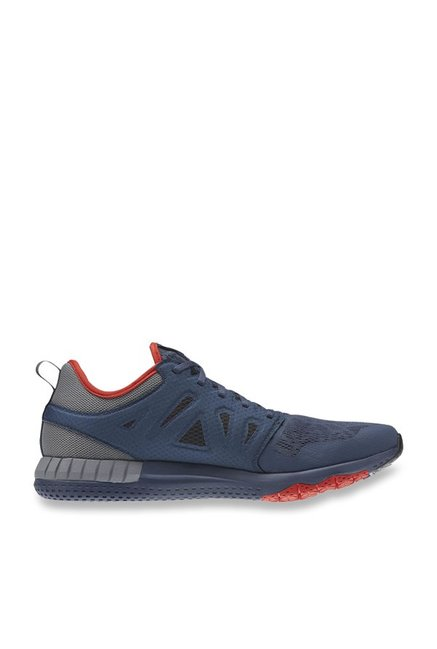 Buy Reebok Zprint 3D Navy   Grey Running Shoes for Men at Best Price ... cc99e4e31