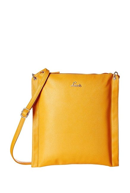 ac614095269 Buy Lavie Jeffrey Yellow Solid Sling Bag For Women At Best Price ...
