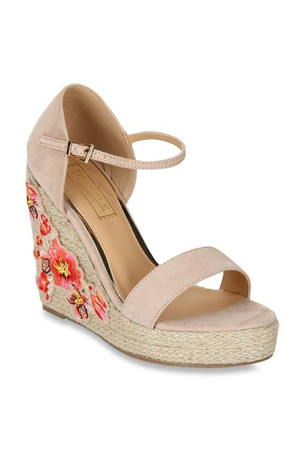 f74011e293a Buy Truffle Collection Nude Espadrille Wedges for Women at Best ...