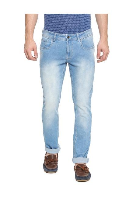bce16d76 Buy Peter England Blue Skinny Fit Cotton Jeans for Men Online @ Tata CLiQ