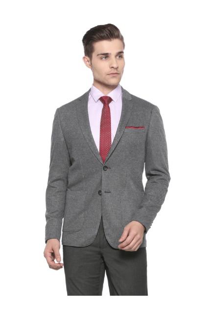 a9f8c1891e96 Buy Peter England Grey Textured Blazer for Men Online   Tata CLiQ
