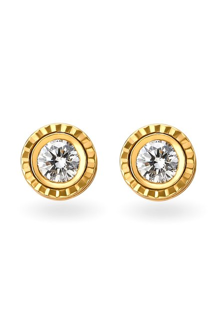 5ef188493 Buy Tanishq Aveer 18 kt Gold & 0.125 ct Diamond Earrings Online At Best  Price @ Tata CLiQ