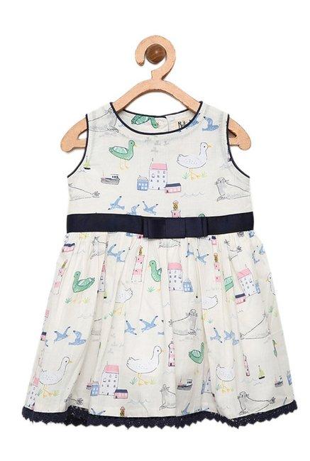 3e31359dad Buy Bella Moda White Printed Dress for Infant Girls Clothing Online ...