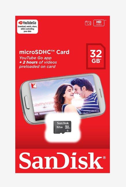 SanDisk 32GB Micro SDHC Memory Card (Black)