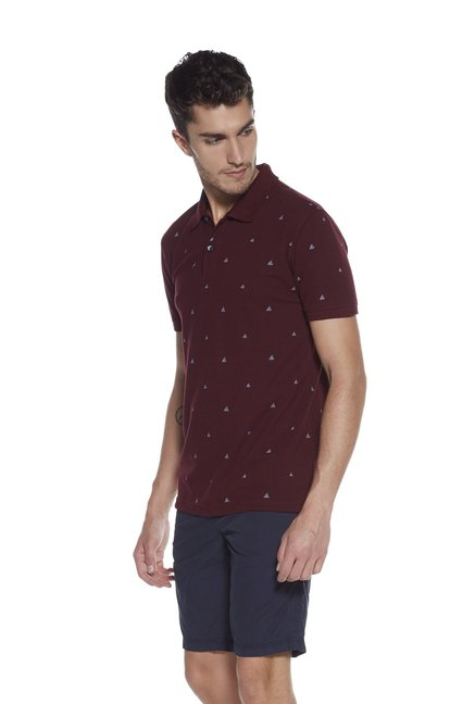 326aa65c Buy Westsport by Westside Maroon Slim Fit Polo T-Shirt for Men Online @  Tata CLiQ