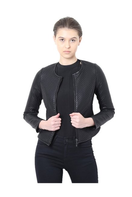 2cb7e244444 Buy Van Heusen Black Quilted Jacket for Women Online @ Tata CLiQ