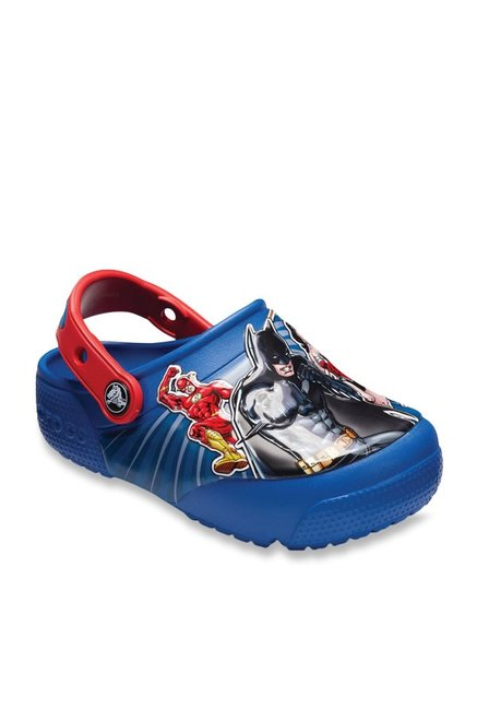 214ea8f0adfe Buy Crocs Kids FL Lights Justice League Blue Jean Back Strap Clogs ...