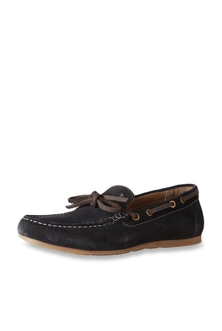 02ac9a8d5c5 Buy Van Heusen Black Boat Shoes for Men at Best Price   Tata CLiQ