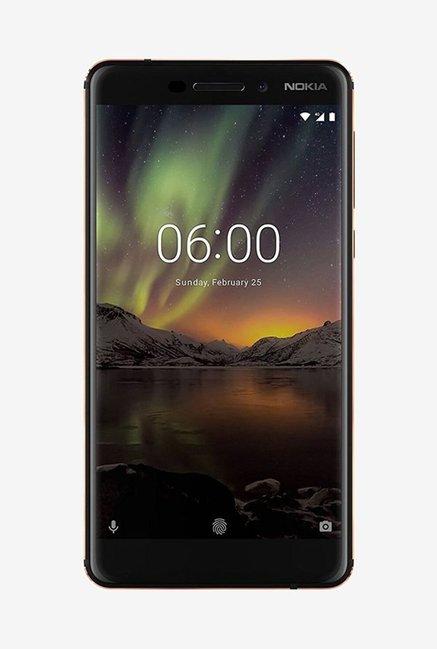 Nokia 6.1 64 GB (Black/Copper) 4 GB RAM, Dual SIM 4G