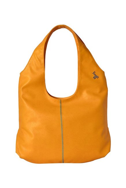 Baggit Lxe5 Get Y G E Gland Yellow Stitched Hobo Bag