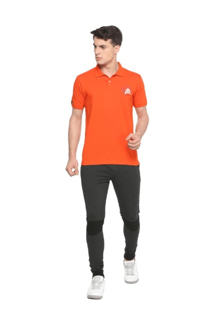 02c46c84 Buy Peter England Orange Slim Fit Polo T-Shirt for Men Online @ Tata ...