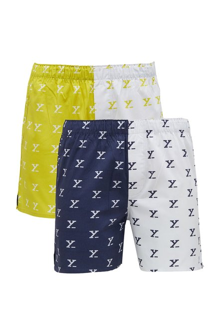XYXX Multicolor Printed Boxers  Pack Of 2