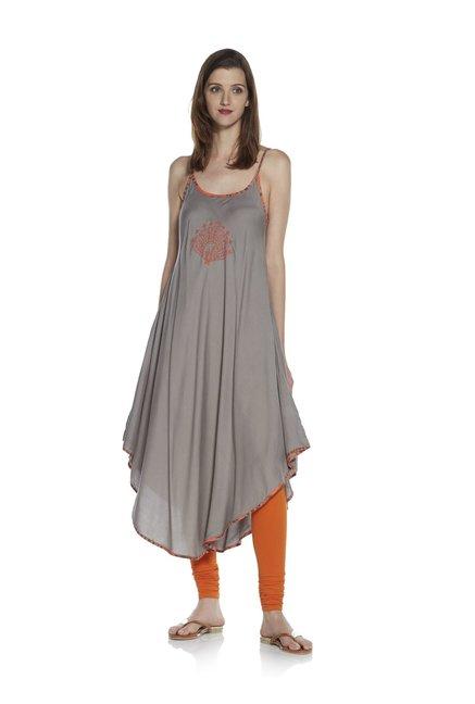 190cdb571d Buy Zudio Grey Strappy A-Line Kurta for Women Online @ Tata CLiQ