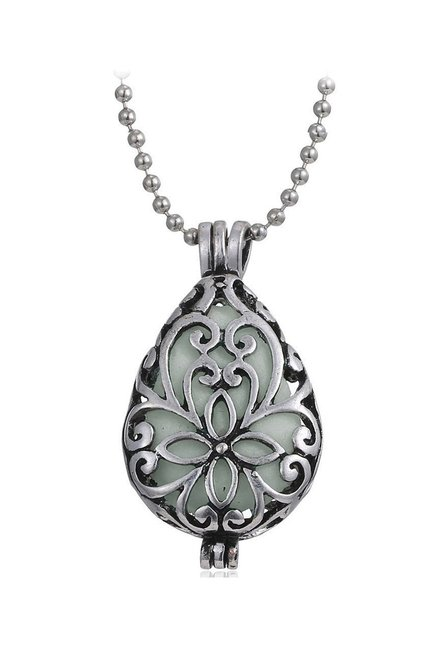 8de41558f5f715 Buy Young & Forever Glow-in-the-dark Silver Alloy Casual Necklace Online At  Best Price @ Tata CLiQ