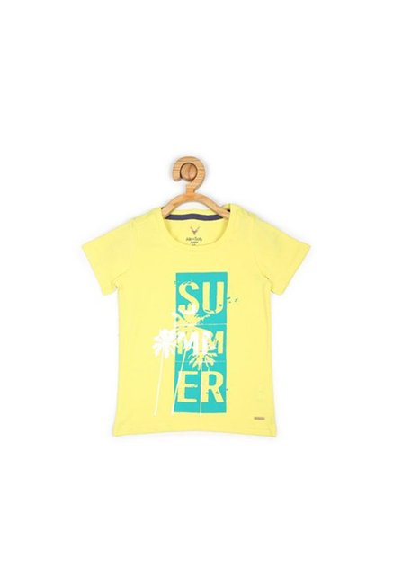 ccbc45846 Buy Allen Solly Junior Yellow Printed T-Shirt for Boys Clothing Online ...