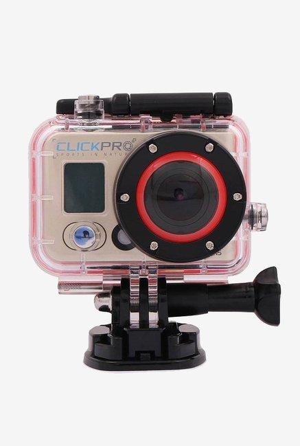 ClickPro Polar 12 MP Sports & Action Camera With Chest Mount, Helmet Strap, Selfie Stick