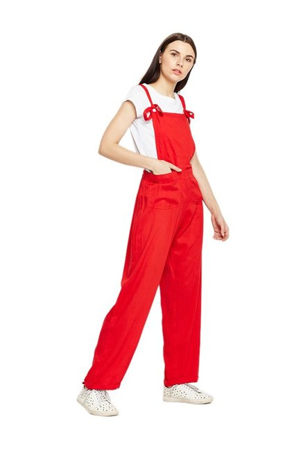 sports shoes most popular classic Buy MEEE Red Rayon Jumpsuit for Women Online @ Tata CLiQ