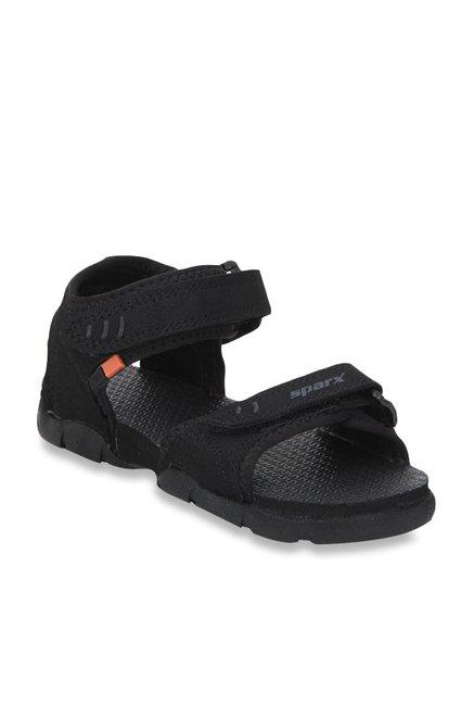 Buy Sparx Black Floater Sandals for