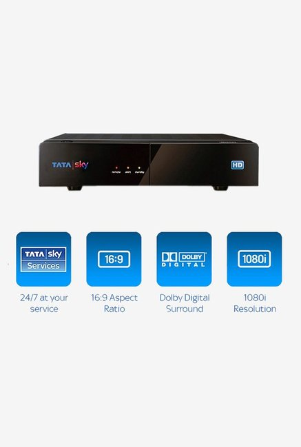 Buy Tata Sky Hd Set Top Box With 1 Month Ultra Pack Black Online