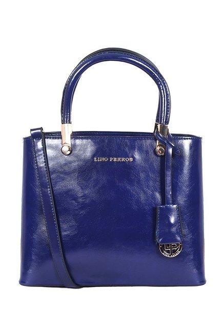 Lino Perros Blue Solid Handbag