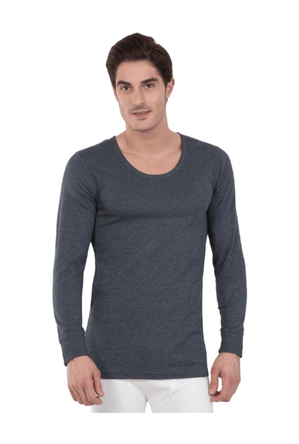 Buy Jockey Charcoal Regular Fit Thermal Vest -2401 for Men Online   Tata  CLiQ 86570a74f
