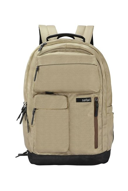 74deb4728d4d Buy Safari Quest Compact Brown   Black Solid Backpack Online At ...