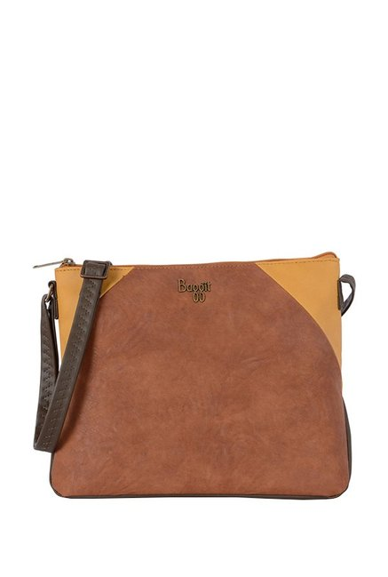 Baggit Lxe4 Tribecca Y G Z Upton Tan & Yellow Sling Bag