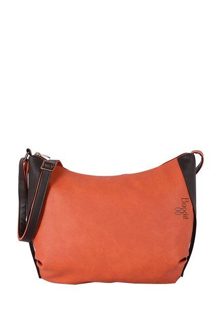 Baggit Lxe4 Turmoil Y G E Carmin Orange Hobo Sling Bag