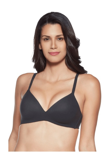 a3cbbecc2ab2c Buy Wacoal Black Non Wired Padded Seamless Bra for Women Online   Tata CLiQ