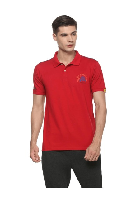2872769838e Buy Peter England CSK Red Polo T Shirt for Men Online   Tata CLiQ