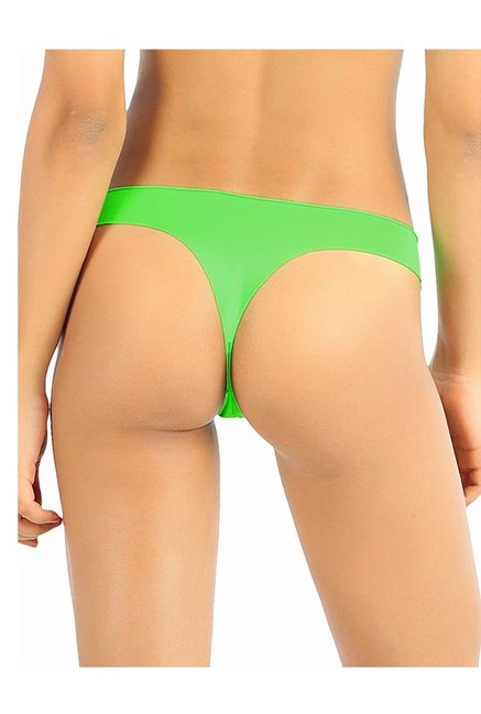 330eb97741d Buy Candyskin Pink   Green Thong Panties (Pack Of 3) for Women ...