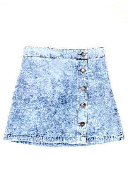 bfa8d7658 Buy US Polo Kids Blue Solid Skirt for Girls Clothing Online   Tata CLiQ