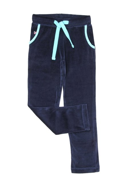 f0da7642a Buy US Polo Kids Navy Solid Trousers for Girls Clothing Online ...