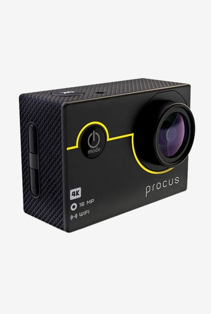 Procus Rush 16 MP Sports   Action Camera with 23 Accessories  Black