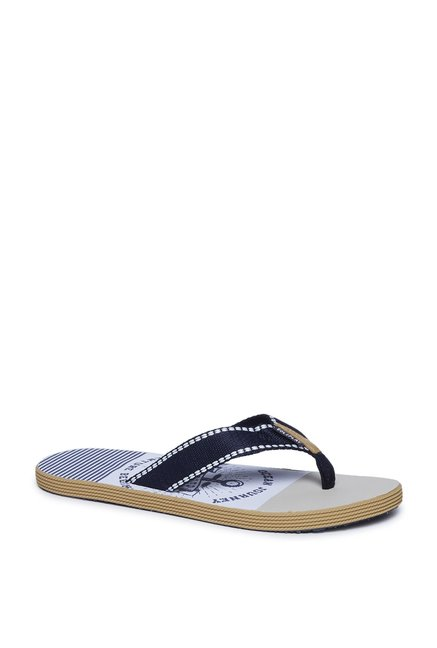 862bdc94a18 Buy SOLEPLAY by Westside Navy Anchor Print Flip-Flops For Men ...