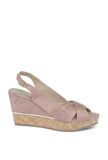 3f26000a60ff0 Buy LUNA BLU by Westside Blush Pink Wedge Heel Sandals For Women Online At  Tata CLiQ
