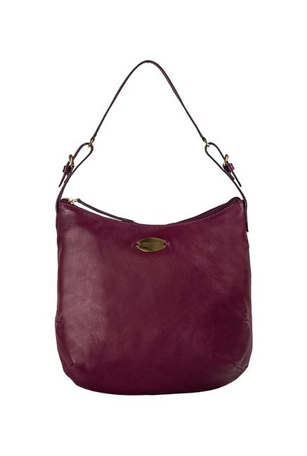 bffc836037b3 Buy Hidesign Rhine 02 Purple Solid Hobo Bag For Women At Best ...