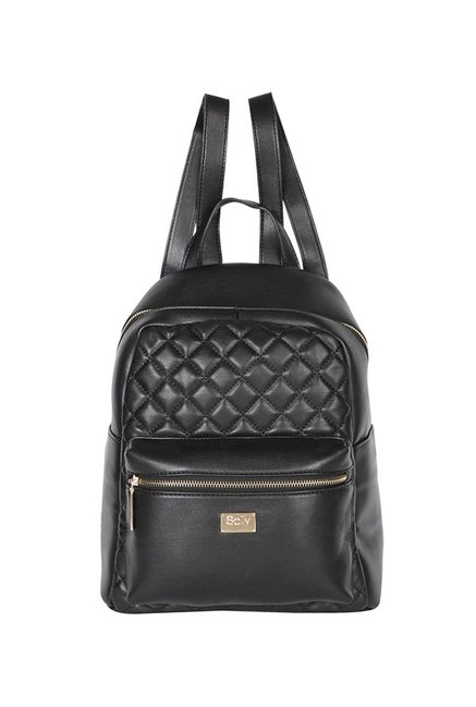 3eafc6c1653a Buy Allen Solly Black Quilted Backpack For Women At Best Price   Tata CLiQ