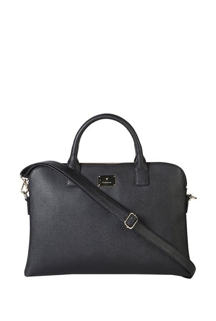 Van Heusen Black Solid Handbag