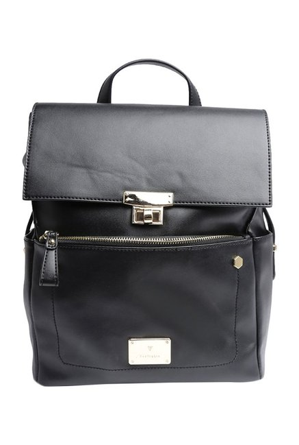 Van Heusen Black Solid Backpack